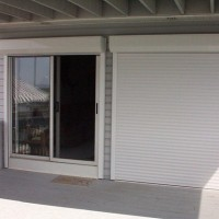 Hurricane Shutters - Motorized Rolling Shutters - Combo Open & Closed