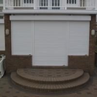 Hurricane Shutters - Motorized Rolling Shutters - Closed