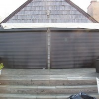 Hurricane Shutters - Motorized Rolling Shutters - Before