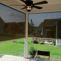 Solar Screens Enclosing a Porch