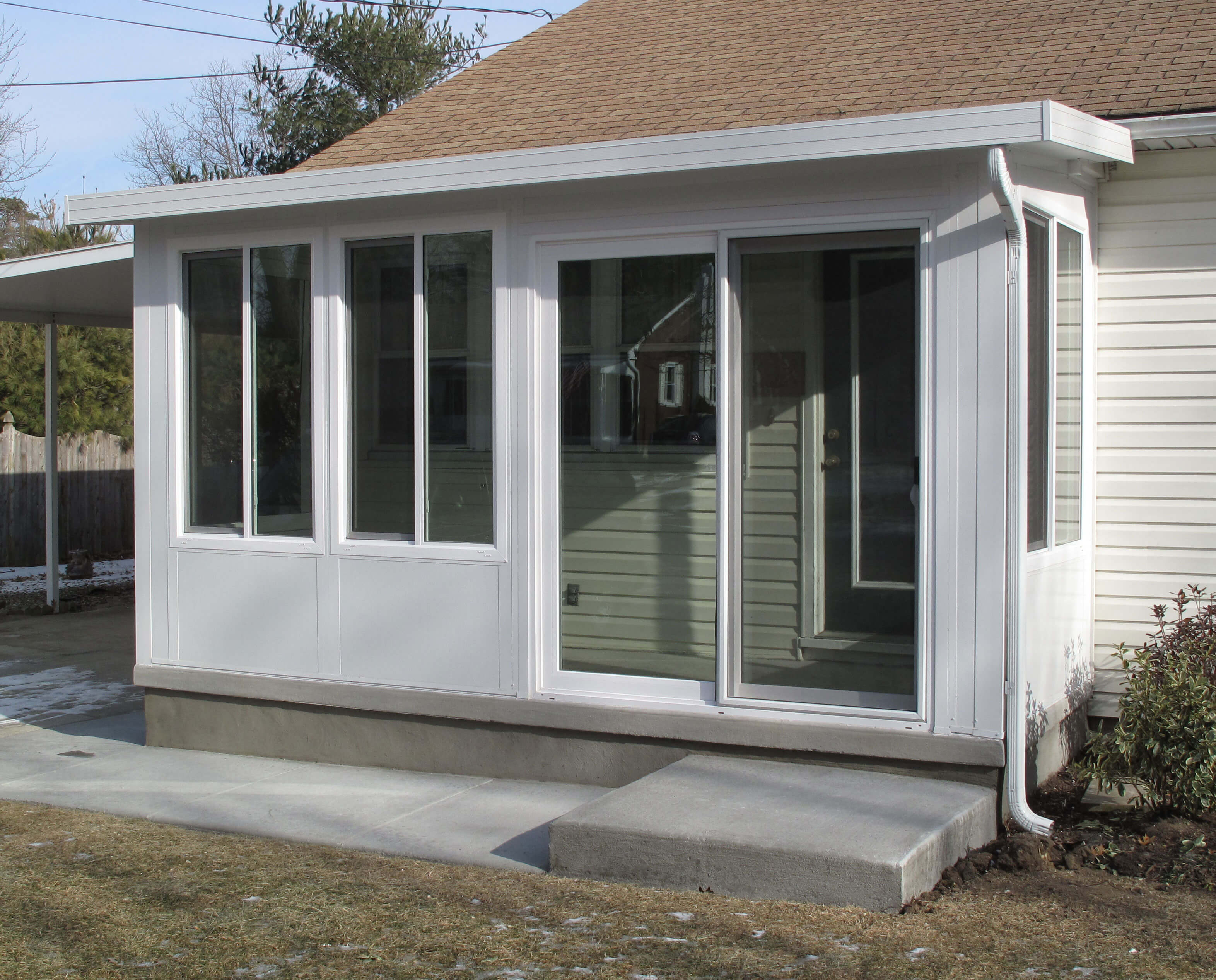 Awning contractor cape may nj patio rooms miamisomers for Backyard sunroom