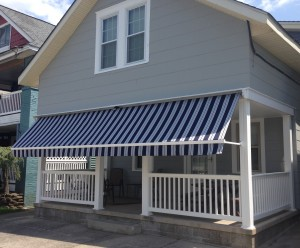 drop arm awning - extended