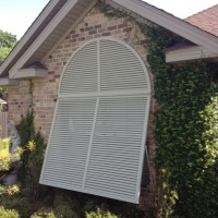 Arched Decorative Bahama Shutter