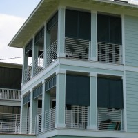 Bahama Shutters on Open Balcony